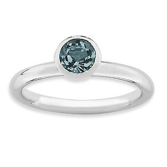 925 Sterling hopea kehys kiillotettu rhodium päällystetty pinottava ilmaisuja korkea 5mm joulukuu crystal ring korut lahjat