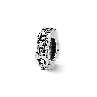 925 plata esterlina acabado Reflexiones floral spacer perla encanto colgante collar regalos de joyería para las mujeres