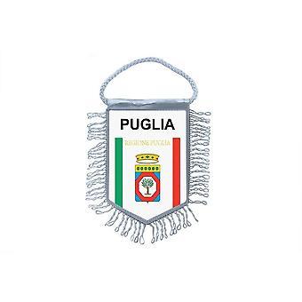 Bandera Mini bandera país decoración de coches Souvenir Blason Italia Puglia