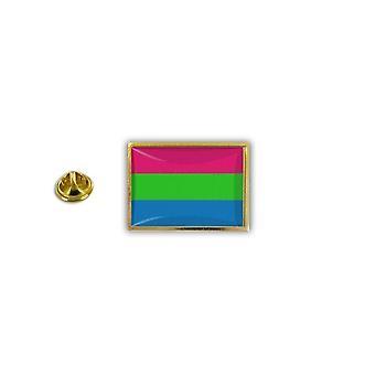 Pine PineS PIN rinta nappi PIN-apos; s metalli epoksi sateen kaari lippu Rainbow Polygenre
