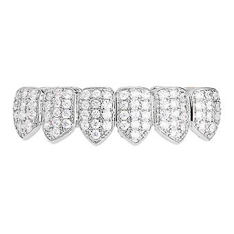 Grillz - silver - one size fits all - CUBIC ZIRCONIA bottom