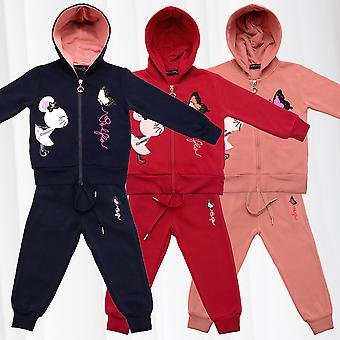 Kids Jogging suit for girls house suit sequins Hoodie Sweat Pants 2 piece Set