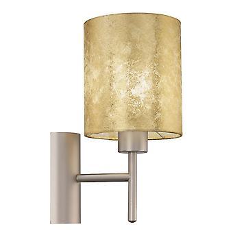 Lámpara de pared Eglo Viserbella cambiada tela oro champán