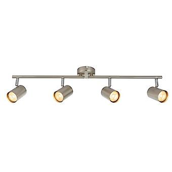 Saxby Lighting Arezzo 4 Luz Spotlight Bar Efecto Cromo Satinado, Placa de cromo 73689