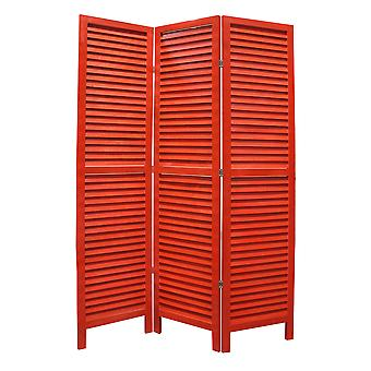 "1"" x 48"" x 67"" Red Wood Shutter -Screen"