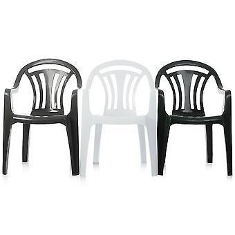 Wham Storage Pallet Deal - X 100 sedie da giardino in plastica a bassa impilamento posteriore