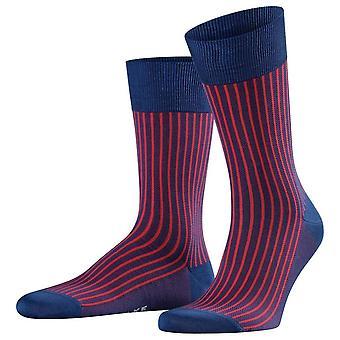 Falke Oxford Stripe sokken-inkt blauw/rood