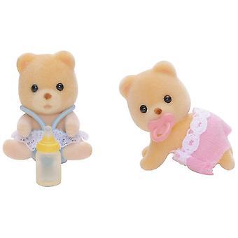 Familii Sylvanian-ursul gemeni jucărie