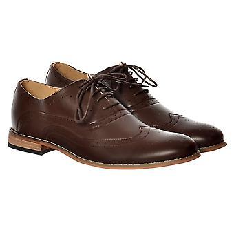 Onlineshoe herr Irwell Smart brogue sko läder look