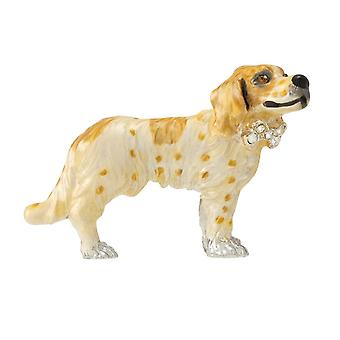 Eternal Collection Storm The Springer Spaniel Handcrafted Enamel And Austrian Crystal Dog Brooch