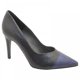 Peter Kaiser Dace Blue Skin Effect High Heel Court Shoe