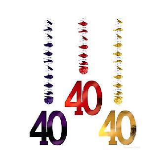 Leeftijd 40 bungelende knipsels (aantal 1)