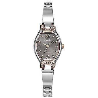 Titta Certus 634084-JOALIA Steel Bicolore silver och Dor Rose Grey Dial kvinnor