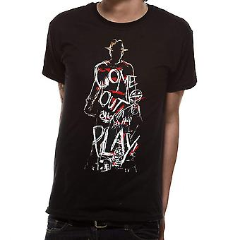 Nightmare On Elm Street Unisex Adults Come Out And Play Design T-shirt