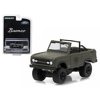 1977 Ford Bronco Military Tribute \Sarge 77\ Hobby Exclusive 1/64 Diecast Model Car By Greenlight