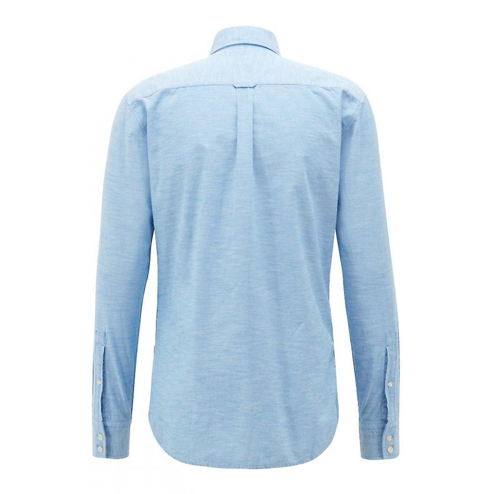 Hugo Boss Casual Men's Blue Mabsoot Long Sleeved Shirt