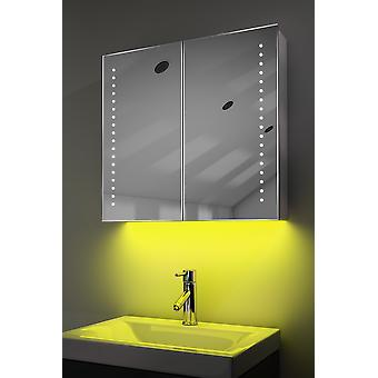 Schrank mit LED unter Beleuchtung, Sensor & interne Rasierer k357 muss