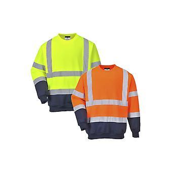 Portwest two tone hi-vis sweatshirt b306