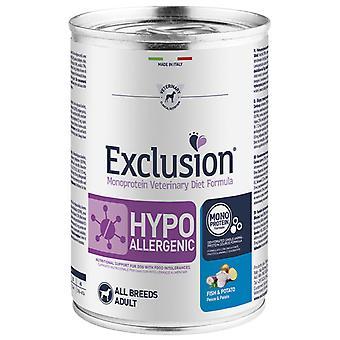 Exclusion Diet Formula Hypoallergenic Pescado y Patata (Dogs , Dog Food , Wet Food)