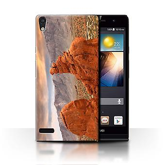 STUFF4 Case/Cover for Huawei Ascend P6/Red Rock Canyon/State of Nevada