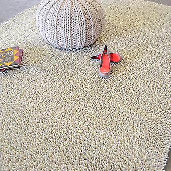Gravel Mix Shaggy Rugs By Brink & Campman 68209 White Grey
