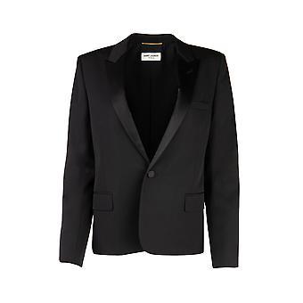 Saint Laurent 517816y399w1000 Women's Black Wool Blazer