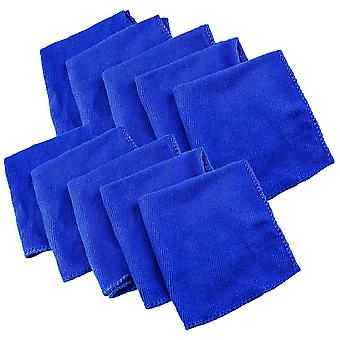 10x Microfiber cloths - Blue