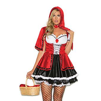 Elegant Moments Womens Plus Size Storybook Red Riding Hood Halloween Costume