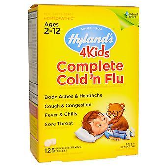 Hyland & s 4kids الباردة كاملة & apos&n الانفلونزا, الأعمار 2-12, أقراص, 125 ea
