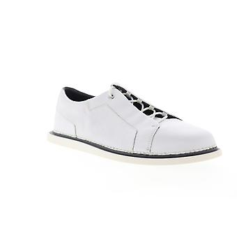 Camper Nixie  Mens White Leather Lace Up Low Top Sneakers Shoes