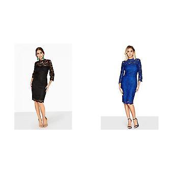 Paper Dolls Womens/Ladies High Neck Lace Dress