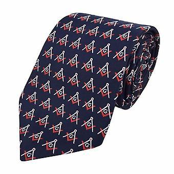 Massonia regalia mestiere muratori slik cravatta con bussola quadrata & g