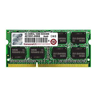 Transcend TS1GSK64W6H, 8 GB DDR3, 1600 Mhz, SO-DIMM, 2Rx8 1.35 V, Low Voltage