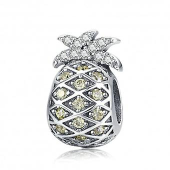 Sterling Silver Charm Summer Pineapple - 5846
