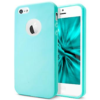 Shell for Apple iPhone 5 5s SE Blue TPU Protection Case