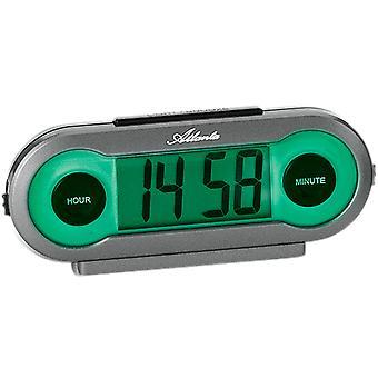 Atlanta 1685 herätyskello Kvartsi digitaalinen harmaa vihreä valo torkku digitaalinen herätyskello
