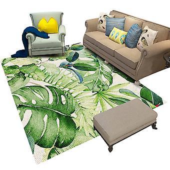Vierkant kristalfluwelen tapijt Inkt-stijl bedrukt tapijt Eenvoudig en elegant voor slaapkamer en woonkamer