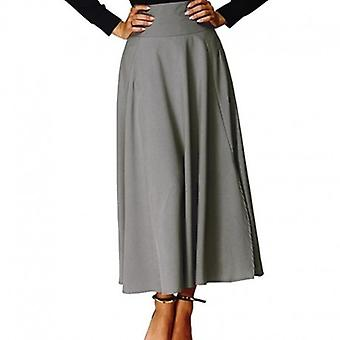 Flared Pleated A Line Skirt With Bow