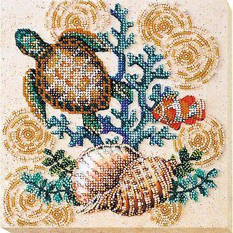 Abris Art Bead Embroidery Kit With Thread - Merpeople