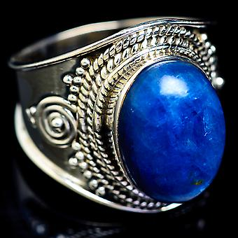 Kyanite Ring Size 8 (925 Sterling Silver)  - Handmade Boho Vintage Jewelry RING5256