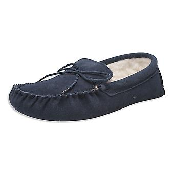 Nordvek Ladies Genuine Wool Lined Moccasin Slippers Soft Suede Sole 431-100