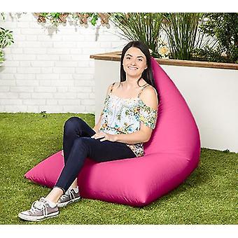 Roze waterbestendige piramidevormige outdoor gevulde zitzak ligstoel