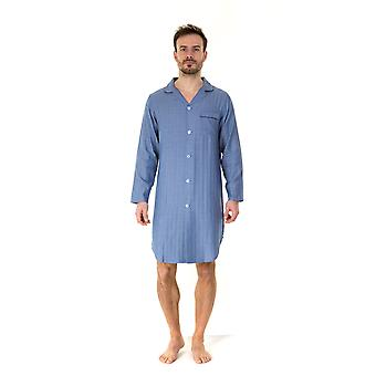Haigman Mens Gift Boxed 100% Cotton Nightshirt Sleepwear - Herringbone - XX-Large