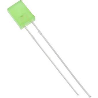 HuiYuan 2504G6D-KPC-S LED wired Green Rectangular 2 x 5 mm 75 mcd 180 ° 20 mA