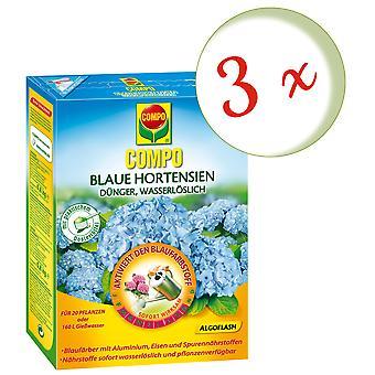Sparset: 3 x COMPO Blue hydrangeas, 800 g