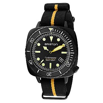 Briston 20644.PBAM.B.34.NBY Automatic Clubmaster Diver Pro Wristwatch Yellow