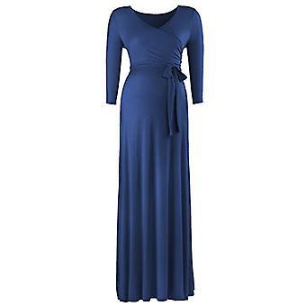 BBHoping Women's Short Sleeve V Neck Faux Wrap Maxi Maternity Dress with Adju...
