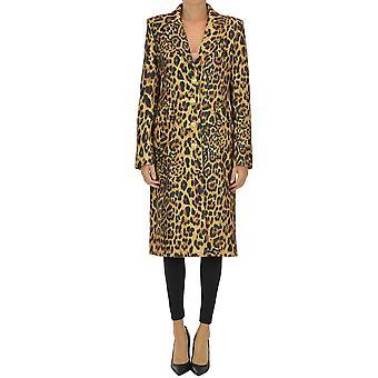 Paco Rabanne Ezgl246006 Femmes-apos;s Manteau de laine léopard