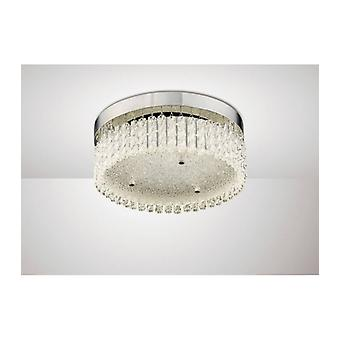 Ceiling Light Aiden Small Round 18w 1600lm Led 4200k Polished Chrome / Crystal