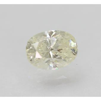 Certified 0.91 Carat I Color VS2 Oval Enhanced Natural Diamond 6.82x5.13mm 2VG